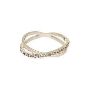Silver Criss Cross Ring,