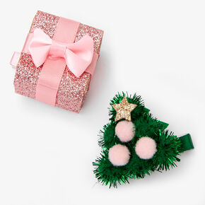 Christmas Tree & Present Hair Clips - 2 Pack,