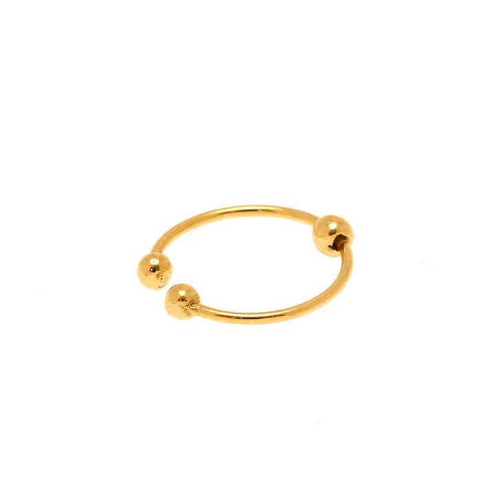 Faux anneau de nez boule couleur dorée et couleur argentée,