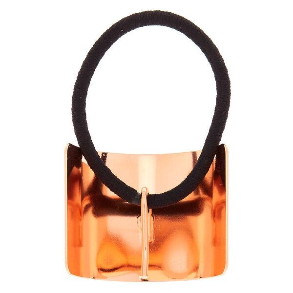 Claire's - anneau décoratif pour queue de cheval couleur doré - 2