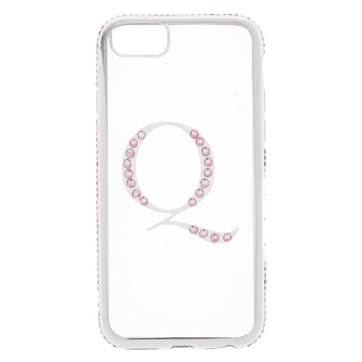 Pink Stone Q Initial Phone Case - Fits iPhone 6/7/8/SE,