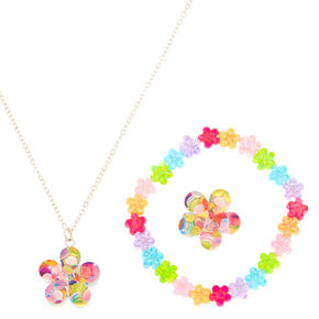 Claire's Club Confetti Flower Jewellery Set - 3 Pack,