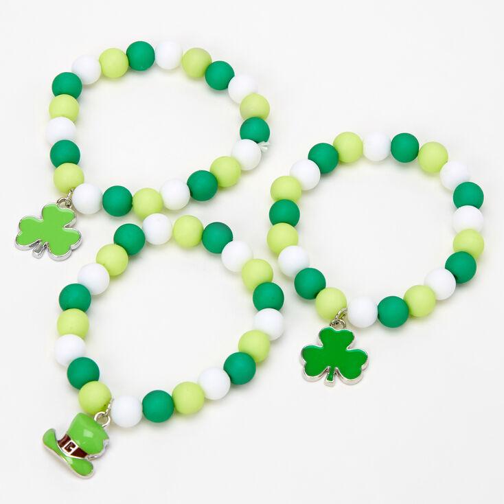 St. Patrick's Day Beaded Stretch Bracelets - 3 Pack,