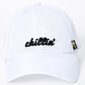 Chillin' Baseball Cap - White,