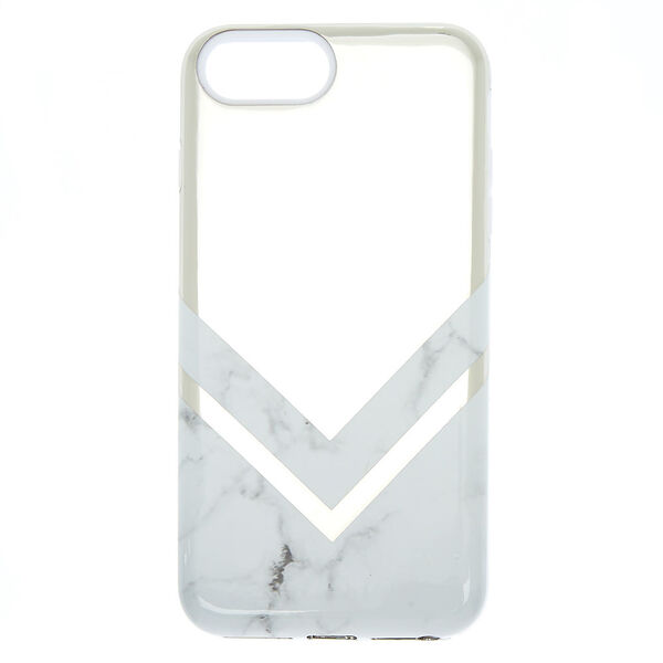 Claire's - geometric marble protective phone case - 1