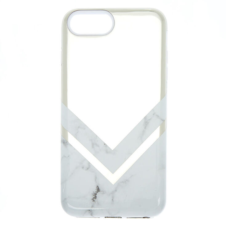 Geometric Marble Protective Phone Case - White  1c3a0544a8