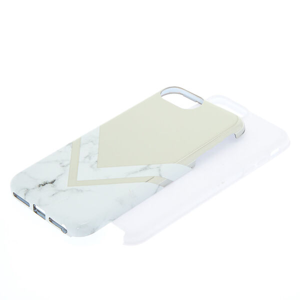 Claire's - geometric marble protective phone case - 2