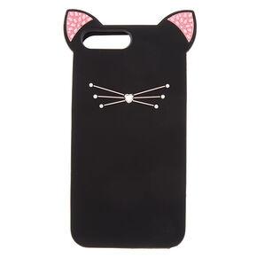 Silicone Black Cat Phone Case - Fits iPhone 6/7/8 Plus,