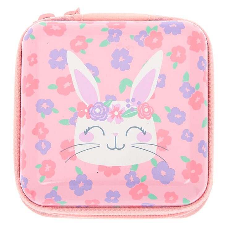 Claire's Club Floral Bunny Makeup & Tin Set - Pink,