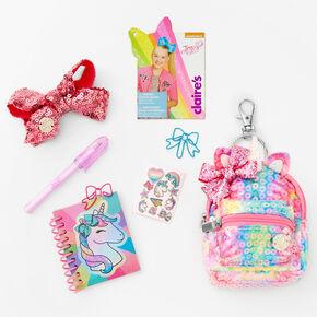 JoJo Siwa™ Sequin 4'' Backpack Stationery Set - Rainbow,