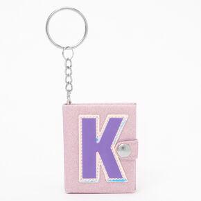 Initial Mini Journal Keychain - K,