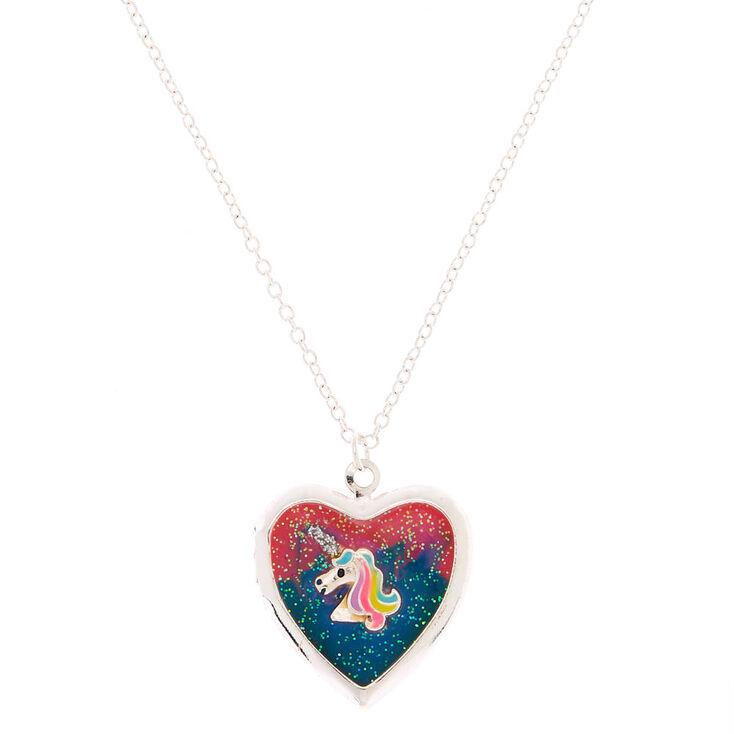 af64be6edcbf9 Mood Unicorn Locket Pendant Necklace