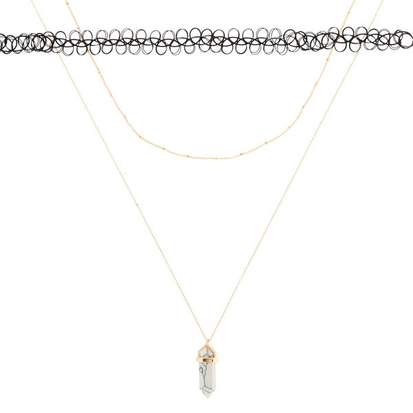 Claire's - marble stone necklace set - 2