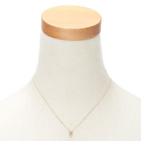 Pendant necklaces claires us rose gold initial pendant necklace e aloadofball Choice Image