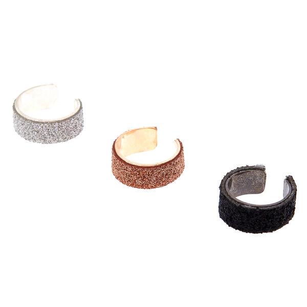 Claire's - 3 pack glitter ear cuffs - 1