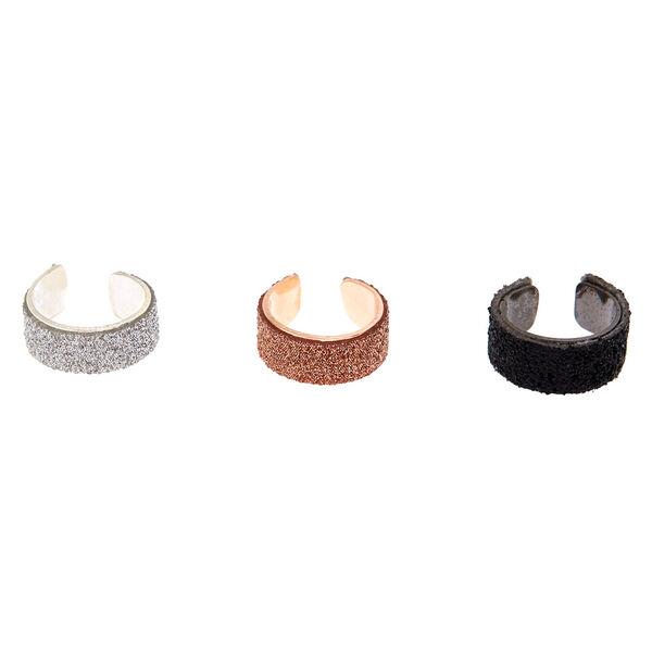 Claire's - 3 pack glitter ear cuffs - 2