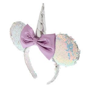 5599718f16aa92 Disney® Minnie Mouse Reversible Sequins Ears Headband