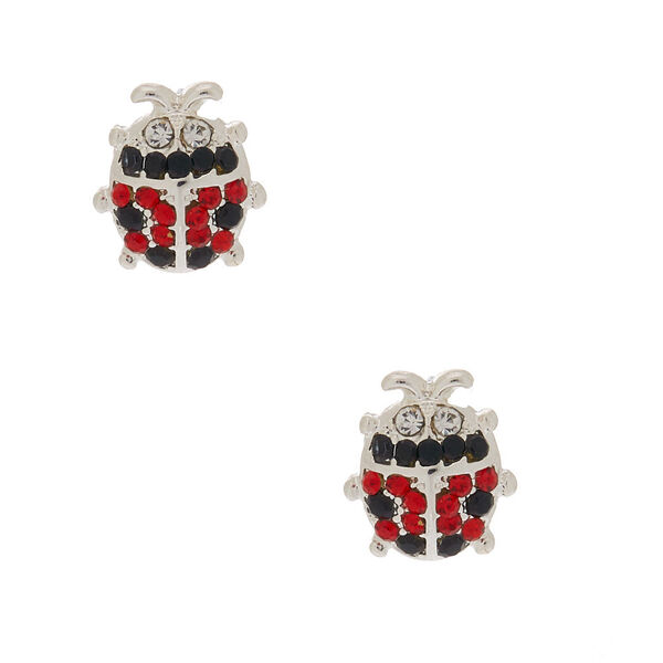 Claire's - crystal ladybug stud earrings - 1