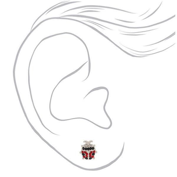 Claire's - crystal ladybug stud earrings - 2