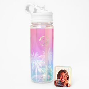 Sky Brown™ Ombre Palm Tree Water Bottle - White,