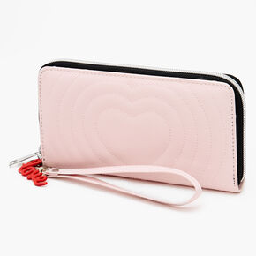 Quilted Hearts Wristlet - Blush Pink,
