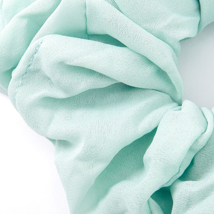 Giant Chiffon Hair Scrunchie - Mint,