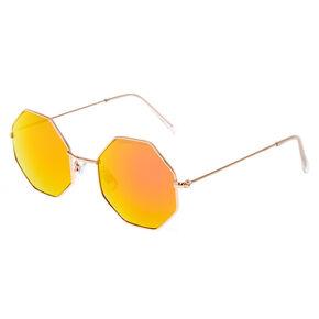 Pink Ombre Hexagon Sunglasses,