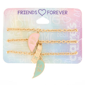Pastel Heart Chain Generation Bracelets - 3 Pack,