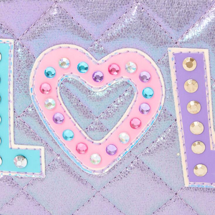 Sac à bandoulière «Love» arc-en-ciel - Violet,