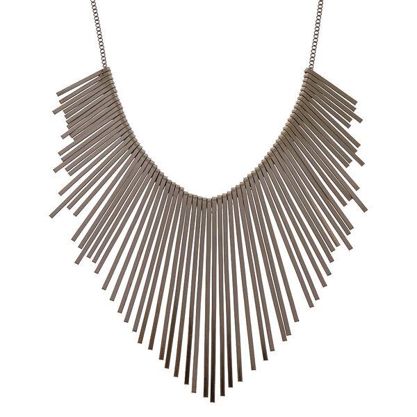 Claire's - hematite bars statement necklace - 1