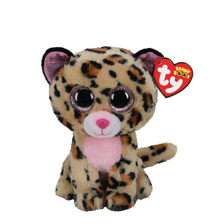 Ty Beanie Boo Small Lacey the Leopard Soft Toy,