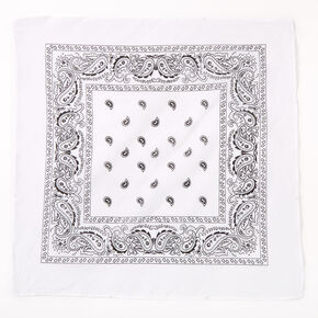 Bandeau bandana imprimé cachemire Claire'sClub - Blanc,