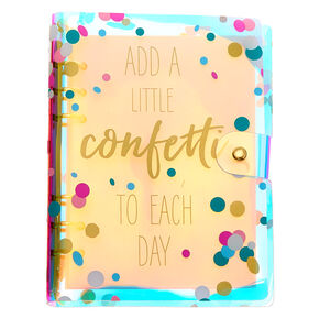 Iridescent Confetti Journal,
