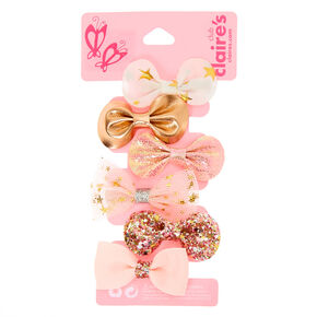 Claire's Club Hair Bow Clips - Pink, 6 Pack,