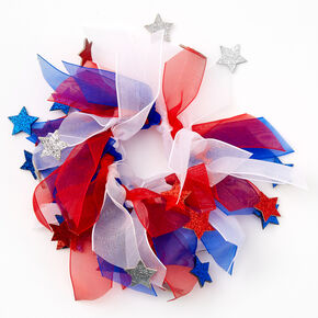 Red, White, And Blue Ribbon Scrunchie,