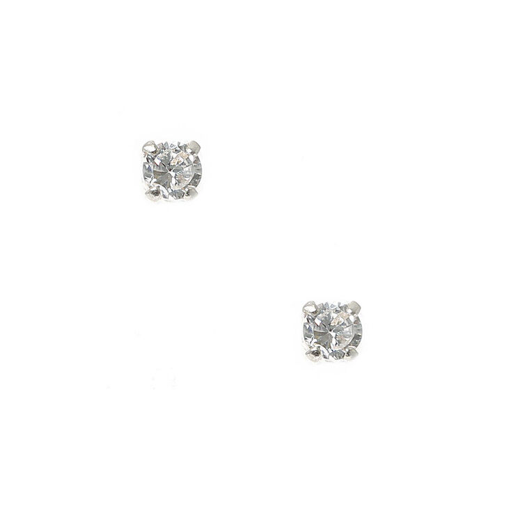 10ed9930f Sterling Silver 3MM Cupcake Stud Earrings | Claire's