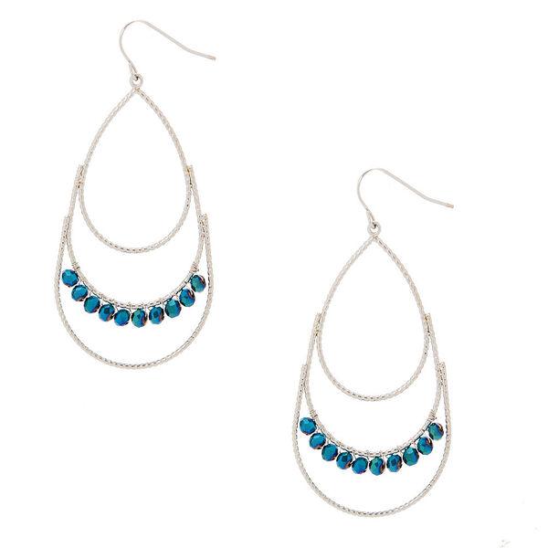 """Claire's - 2"""" beaded tear drop earrings - 1"""