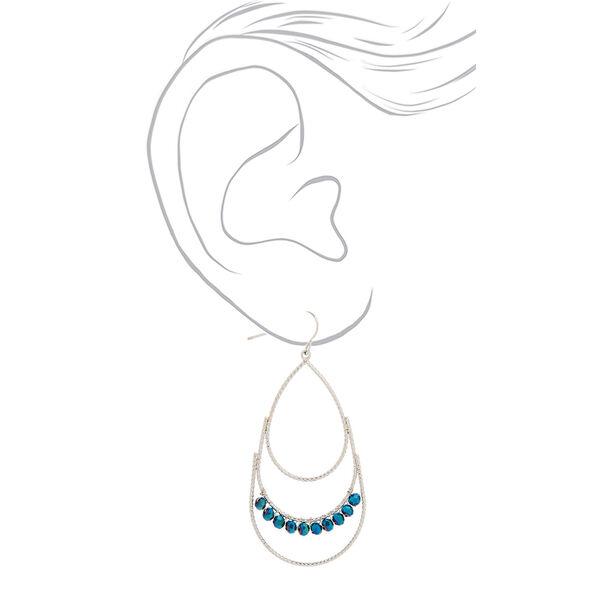 """Claire's - 2"""" beaded tear drop earrings - 2"""