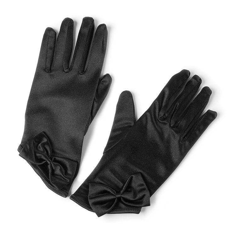 Satin Gloves with Bow,