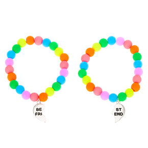 Rainbow Bead Stretch Friendship Bracelets - 2 Pack,