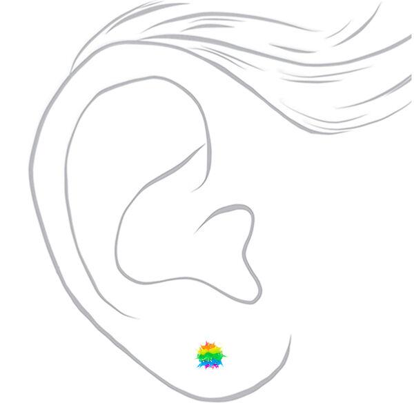 Claire's - rainbow spike stud earrings - 2