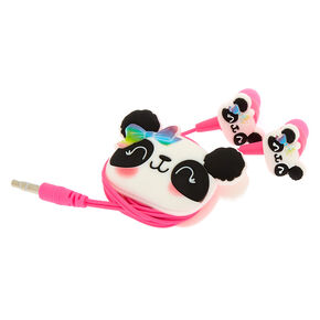 Paige the Panda Earbuds & Winder - White,