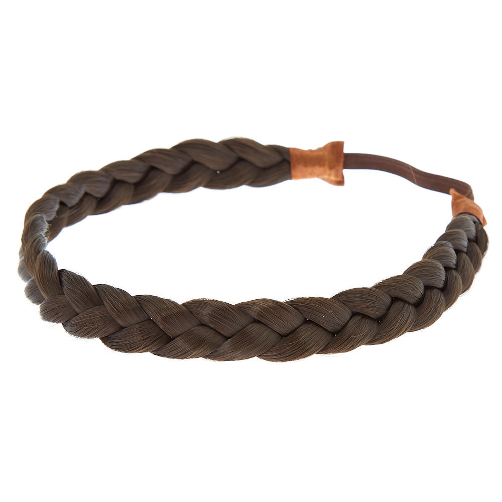 Claire/'s Girl/'s Brown Leather Plait Headband