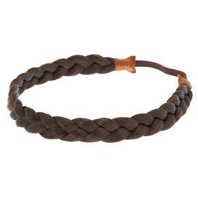 Faux Braid Headwrap - Brown,