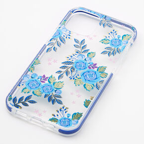 Navy Blue Floral Phone Case - Fits iPhone 12/12 Pro,
