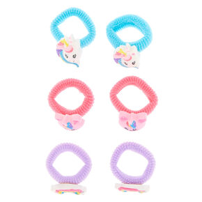 Claire's Club Glitter Hair Ties -  Pack,