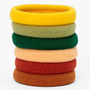 Fall Colours Plush Rolled Hair Bobbles - 6 Pack,