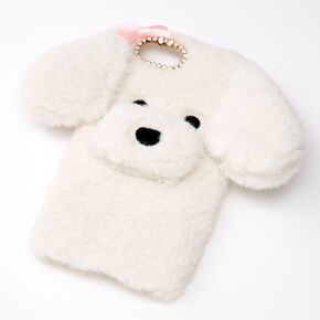 Furry White Dog Phone Case - Fits iPhone 6/7/8/SE,