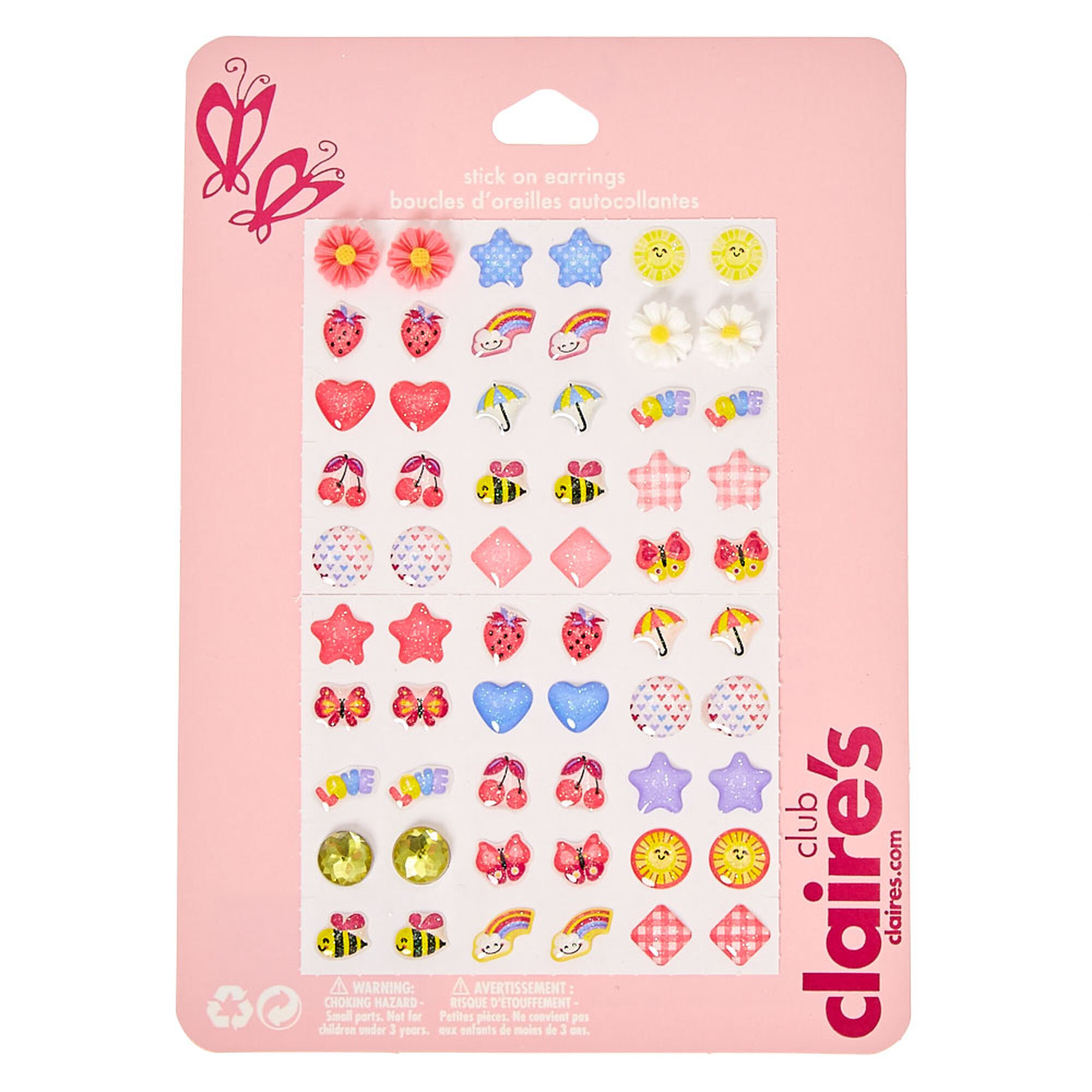 Kids April Showers Stick-on Earrings | Claire\'s US