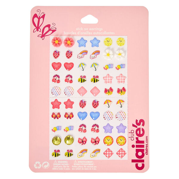 Claire's - club spring stick on earrings - 1